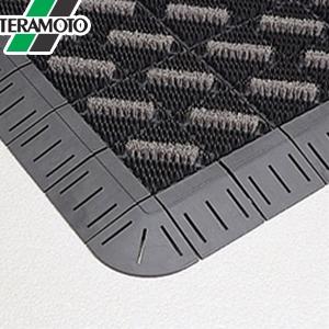 テラモト カラーブラッシュ 灰 フチ付 600×900mm 1枚 MR-096-240-5 [個人宅配送不可商品]