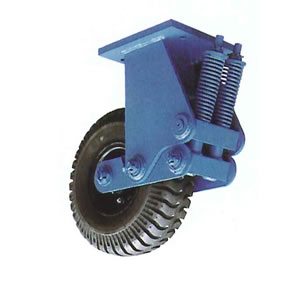 末廣車輌(スエヒロ) UNU-SP型 スプリングタイヤキャスター 固定車 牽引用 許容荷重400kg