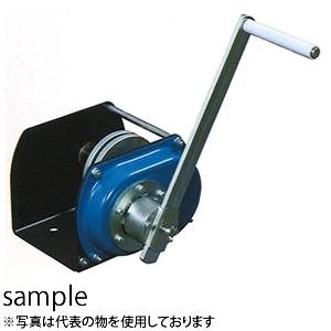 富士製作所 手動ウインチ ポータブルウインチ LHW-100V 横引きエンドレス作業用