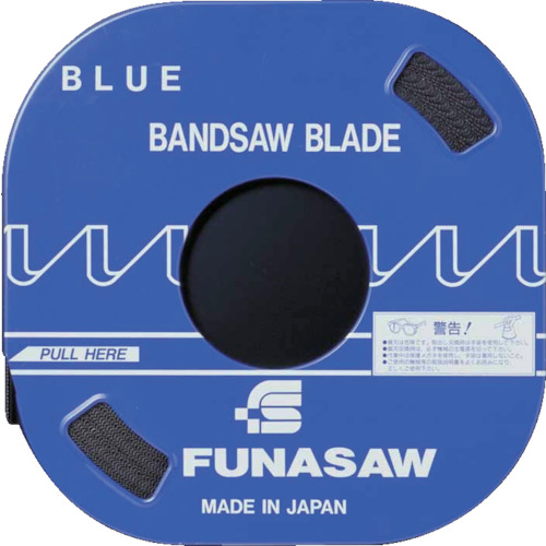 フナソー バンドソー コンターマシン用バンドソー ブルー(B) 幅3 厚0.635 長さ30m ピッチ14