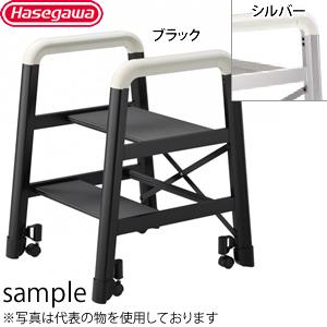 長谷川工業 アルミ製 踏台 CAMBER(キャンバー) 2段 DE2.0-2B ブラック [個人宅配送不可]