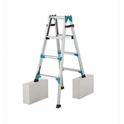 長谷川工業 脚部伸縮式(アジャスター) アルミ製はしご兼用脚立 RYH-12 [個人宅配送不可]