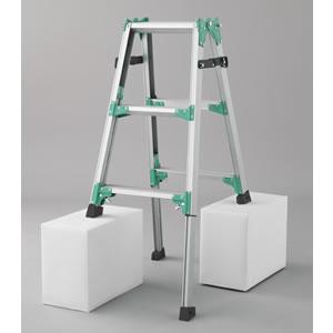 長谷川工業 脚部伸縮式(アジャスター) アルミ製はしご兼用脚立 RYZ1.0-09【在庫有り】【あす楽】