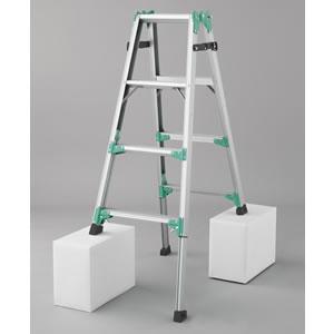 長谷川工業 脚部伸縮式(アジャスター) アルミ製はしご兼用脚立 RYZ1.0-12【在庫有り】【あす楽】