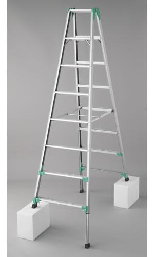 長谷川工業 脚部伸縮式(アジャスター) アルミ製専用脚立 RYZ1.0-24 [大型・重量物]