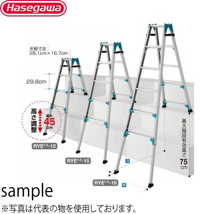 長谷川工業 アルミ製 階段用はしご兼用脚部伸縮式脚立 RYE1.0-15 [個人宅配送不可]