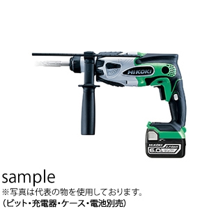 HiKOKI(日立工機) 14.4V/6.0Ah コードレスロータリハンマドリル DH14DSL(2LYPK)(ドリルビット別売り)(L:アグレッシブグリーン)