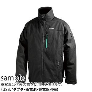日立工機(HiKOKI) 14.4V/18V兼用 コードレスウォームジャケット UJ18DSL(XXL) 日本向けサイズ3XL USBアダプタBSL18UA(SA)付、蓄電池・充電器別売