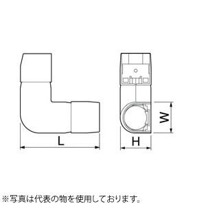 空調機器工具 因幡電機産業 [宅送] 自在エルボJFE 販売入数:50本 アイボリー 時間指定不可