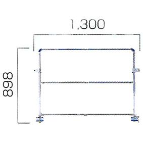 CSR用オプション CSRR183 本体桁面用手掛り枠 CSR-180WF用 [個人宅配送不可] ALINCO(アルインコ)