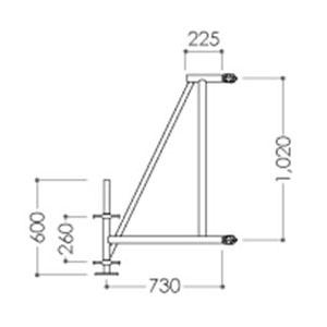 ALINCO(アルインコ) 鋼製ローリングタワー RT用部材 アウトリガー SR750 (1個) [個人宅配送不可][送料別途お見積り]