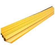 アラオ 段差スロープA(敷き鉄板用) 155w×1500L 黄色 4本入