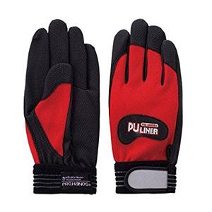 富士グローブ 高グリップ手袋 PUライナーα レッド Mサイズ[0771] 1箱120双セット :FG7101
