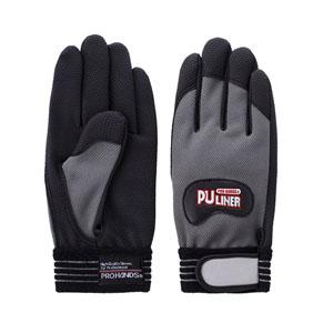 富士グローブ 高グリップ手袋 PUライナーα グレー Sサイズ[0788] 1箱120双セット
