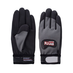 富士グローブ 高グリップ手袋 PUライナーα グレー Lサイズ[0790] 1箱120双セット :FG0212