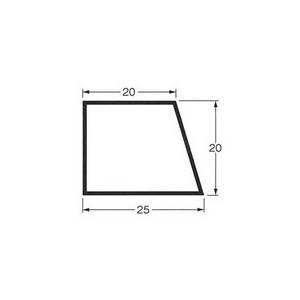 乾産業 スーパー目地棒 片テーパー 2S W:25×20×20 L=2M 入数:50個入