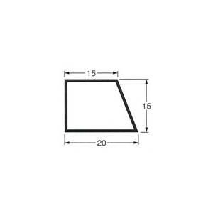 乾産業 スーパー目地棒 片テーパー 3S W:20×15×15 L=2M 入数:100個入