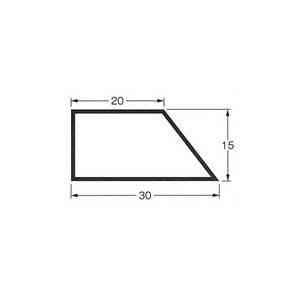 乾産業 スーパー目地棒 片テーパー 4S W:30×15×20 L=2M 入数:50個入