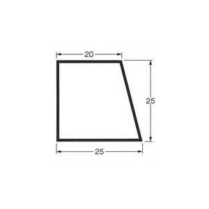 乾産業 スーパー目地棒 片テーパー 17S W:25×25×20 L=2M 入数:50個入