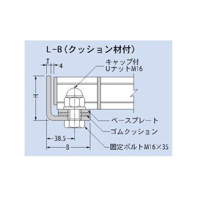 カネソウ 溶融亜鉛めっき ボルト固定式 b=498用スチール製受枠 L型 クッション材なし 61×60×6 :L-50AQZ