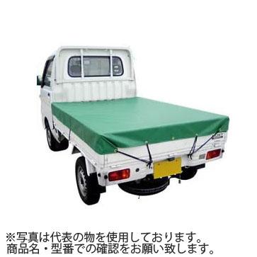 エステル帆布トラックシート 4号 266×460cm 1トン~2トン車用 平張りタイプ ゴムバンド付 :ML6496 【在庫有り】【あす楽】