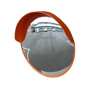 ナックKS(NAC) アクリルカーブミラー 丸型 φ400一面 φ34.0支柱/壁取付金具付 [配送制限商品]