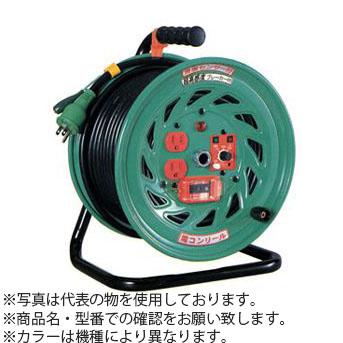 日動工業 20m(1次線)+17m(2次線)コードリール 100Vふたやくリール(屋内型)電工ドラム+延長コード型 FD-E357 アース付 コンセント:4+3口