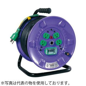 日動工業 30mコードリール 100V寒冷地型ドラム(屋内型) KNF-EK34 アース付(過負荷漏電保護兼用) コンセント:4口