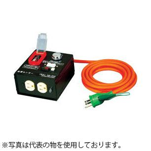 日動工業 3mコードリール 100V金属センサードラム(屋内用)ボックス型 KS-EB550 アース付(漏電保護専用) コンセント:2口