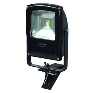 日動工業 LEDライト フラットライト LEN-F10C-BK (黒) 10W 昼白色 クリップ付 5000K