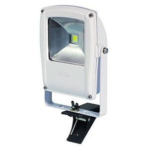 日動工業 LEDライト フラットライト LEN-F10C-W-S (白) 10W 電球色 クリップ付 2500K