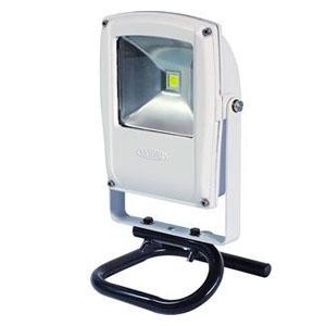 日動工業 LEDライト フラットライト LEN-F10S-W-S (白) 10W 電球色 床スタンド付 2500K