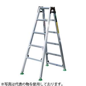 ナカオ(NAKAO) アルミ製 4脚調節式・脚異長はしご兼用脚立 ピッチ(階段用) DW-180 [個人宅配送不可]