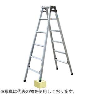 ナカオ(NAKAO) アルミ製 4脚調節式・はしご兼用脚立 ケンヨウキャタツのび太郎 JQN-150 [個人宅配送不可]