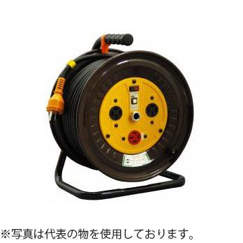 日動工業 30mコードリール 三相200V逆転コンセント付ドラム(屋内用) ND-E330R-20A アース付 コンセント:2口
