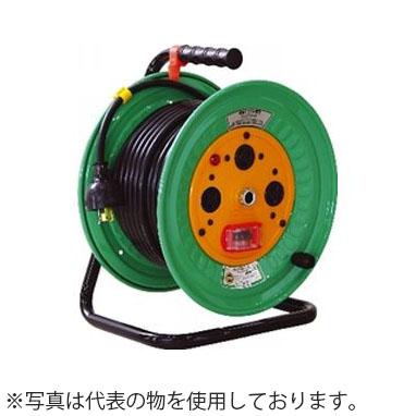 日動工業 30mコードリール 100Vコンビリール(屋内型)Kタイプ NDL-EB33F-K20 アース付(漏電保護専用) コンセント:1+2口