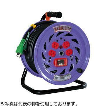 日動工業 20mコードリール 100V標準型ドラム(屋内用) NP-EB24 アース付(漏電保護専用) コンセント:4口