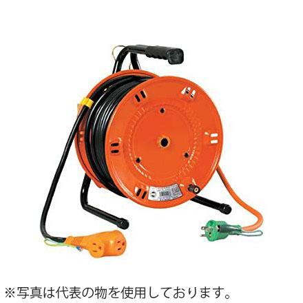 日動工業 30mコードリール 100V延長コード型ドラム(屋内型) RND-E30S アース付 コンセント:3+2口