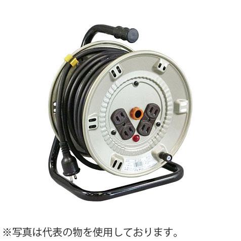 日動工業 20mコードリール 100V標準型ドラム(屋内用) NP-BR24 アース無(漏電保護専用) コンセント:4口