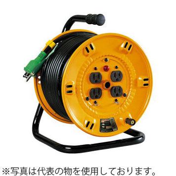 日動工業 20mコードリール 100V抜け止め式コンセントドラム(屋内用) NP-E24FN アース付 コンセント:4口