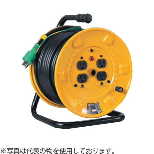 日動工業 30mコードリール 100V標準型ドラム(屋内用) ND-E34FPN アース付 コンセント:4口