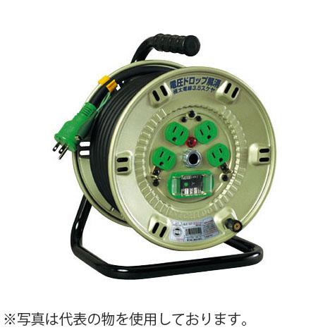 日動工業 20mコードリール 100Vコンビリール(屋内型)Aタイプ NPL-EK24CT-A15 アース付(過負荷漏電保護兼用) コンセント:2+2口