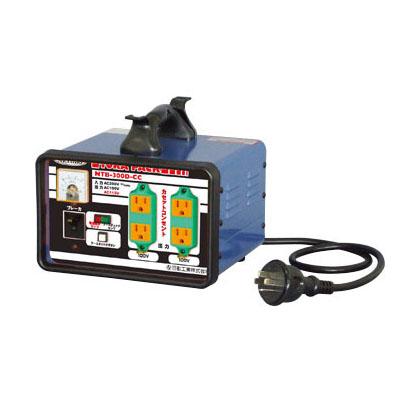 日動工業 降圧専用トランス 屋内型 NTB-300D-CC-100V (200V⇒100V) <連続定格>漏電遮断機付