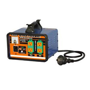 日動工業 降圧専用トランス 屋内型 NTB-EK300D-CC (200V⇒100V/115V) <連続定格>漏電遮断機付