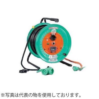 日動工業 30mコードリール 100V延長コード型ドラム(屋外型)防雨・防塵型 RBW-EK30S アース付(過負荷漏電保護兼用) コンセント:3+1口