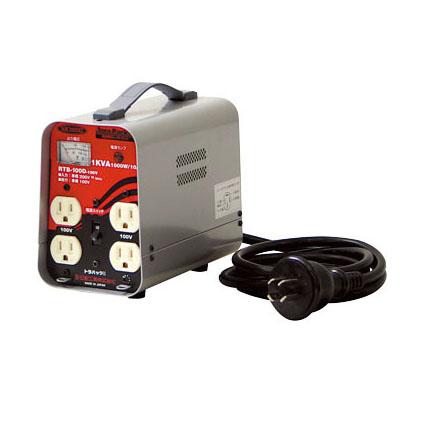 日動工業 降圧専用トランス 屋内型 RTB-100D-100V (200V⇒100V) <連続定格>漏電遮断機付