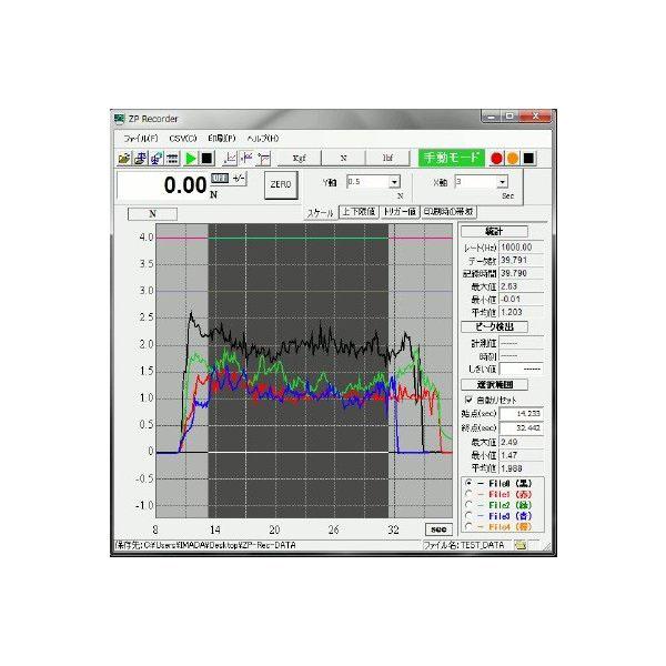 イマダ グラフ描画ソフトウェア ZP Recorder 【USBモデル】