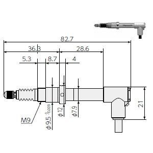 楽天市場】マグネスケール DK805SAFLR デジタルゲージ(高分解能タイプ ...