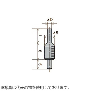 尾崎製作所(PEACOCK) XB-808 ダイヤルゲージ用ニードル測定子 (超硬) D:φ1.5mm
