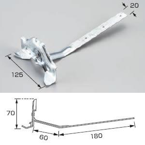 白幡 雪止め DXフジ型180足雪止 F-1 材質:鉄 ドブメッキ仕上 (100個入)
